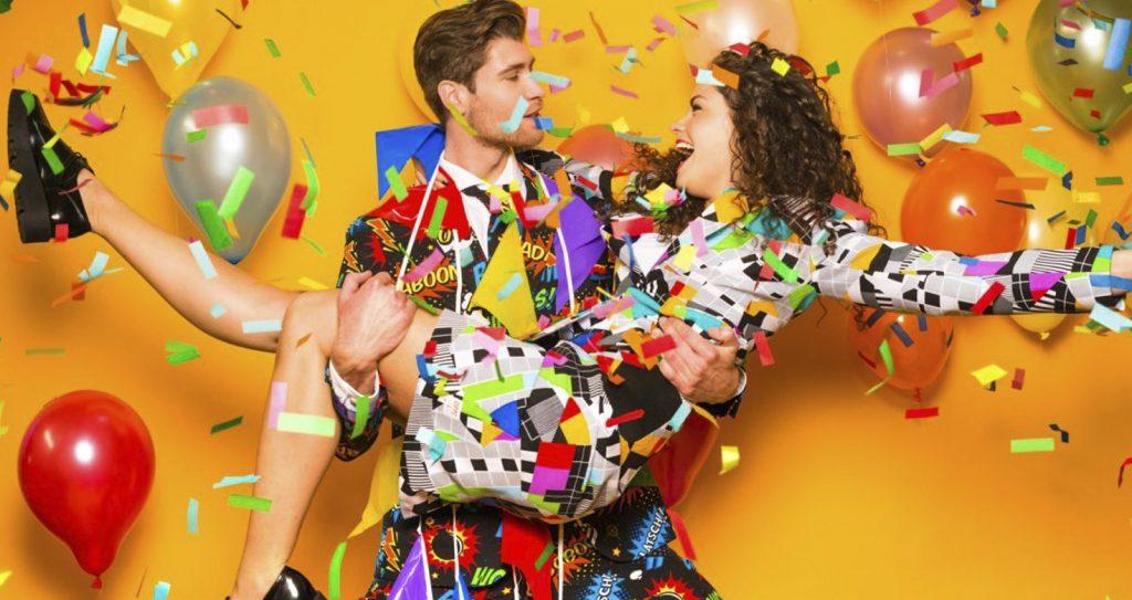 Carnavals pakken met confetti